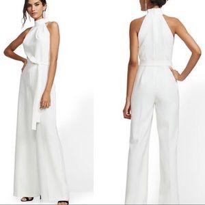 New York & Co. white halter jumpsuit